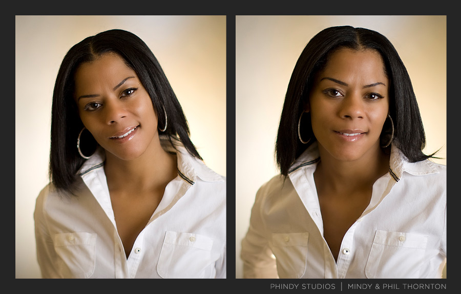 Headshots of Adrienne Simmons