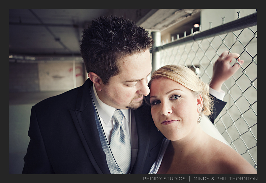 Bride &amp; Groom_parking garage