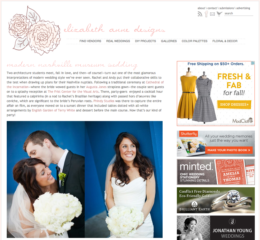 Phindy Studios featured wedding blog